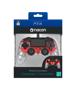 Nacon Wired Illuminated Compact Controller - Red