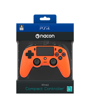 Nacon Wired Compact Controller - Orange - Bluemouth Direct