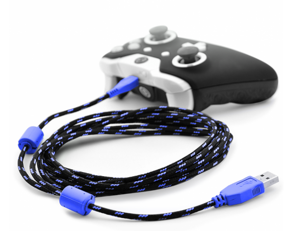 SCUF 10ft braided charging cable for Xbox One & PS4 - Blue - Bluemouth Direct
