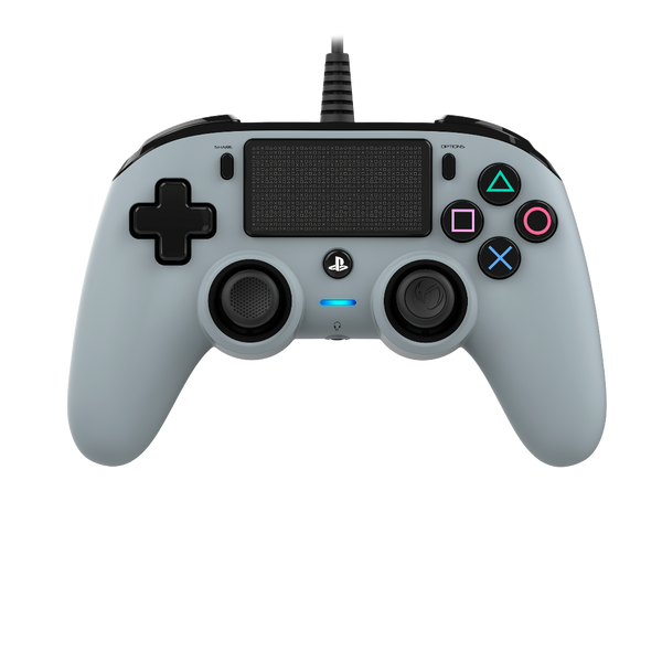 Nacon Wired Compact Controller - Grey - Bluemouth Direct