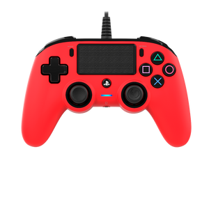 Nacon Wired Compact Controller - Red - Bluemouth Direct