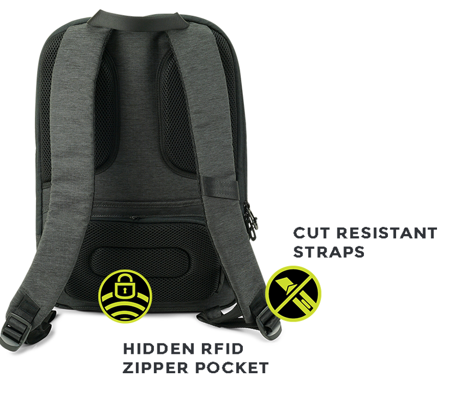 Pick pocket safe travel bags from Zoomlite