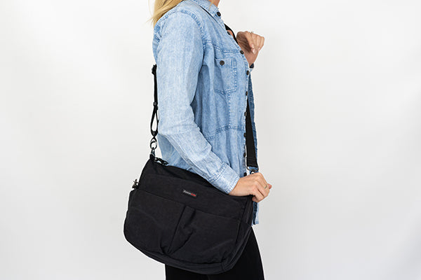 Crossbody anti-theft bags from Zoomlite - for when you need your hands free
