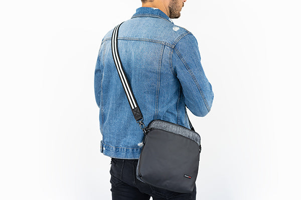 Make a fashion statement while on your travels with fashion straps to go with your Zoomlite slashproof pickpocket proof bag