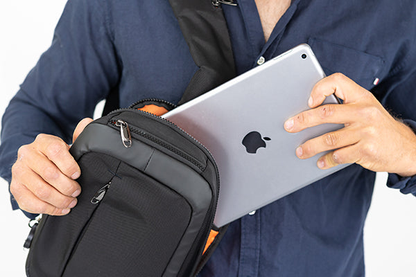 Zoomlite Anti-Theft Sling bag - perfect size bag for iPad