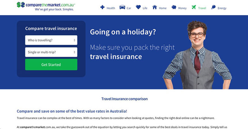 Compare the market for insurance screenshot - travel safety tips