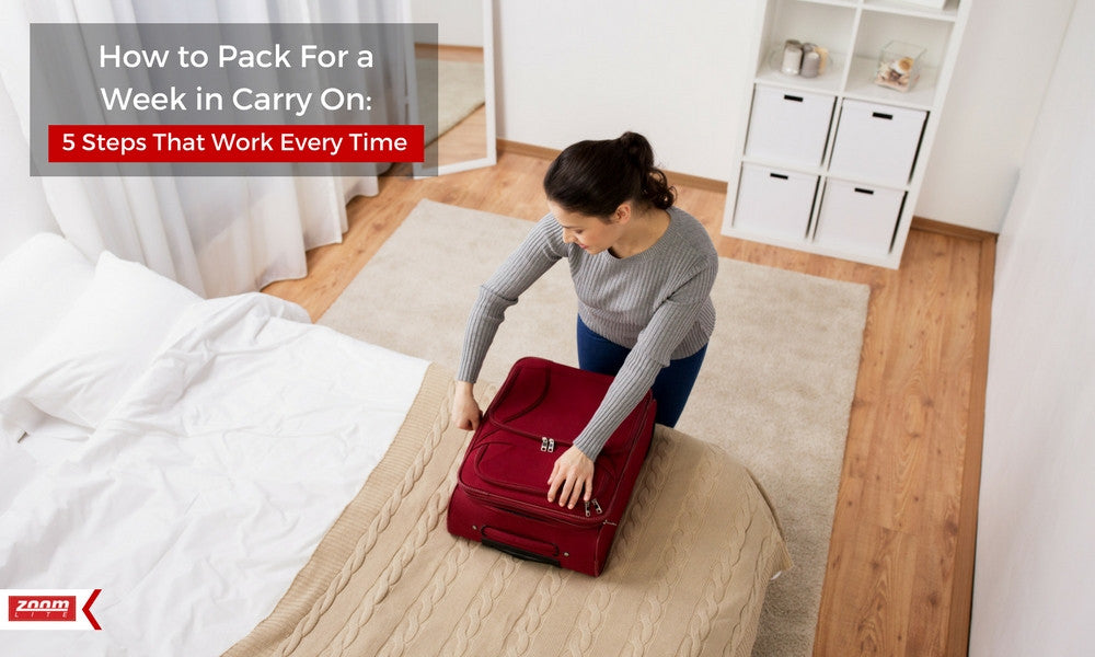 How to pack for a week in carryon