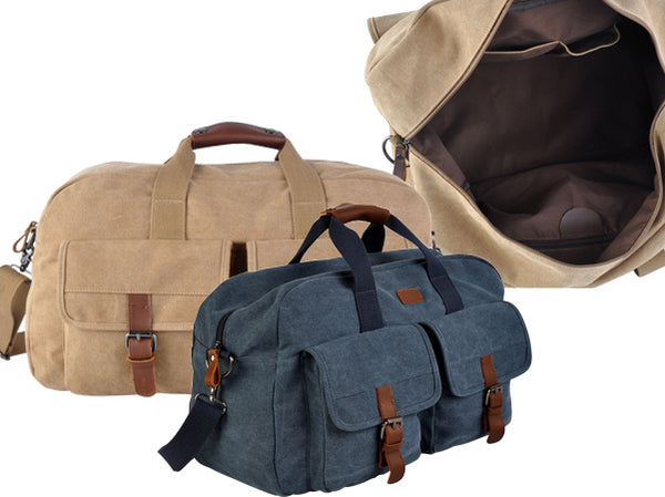 Jackson Casual Cnavas-Vintage Leather Duffle