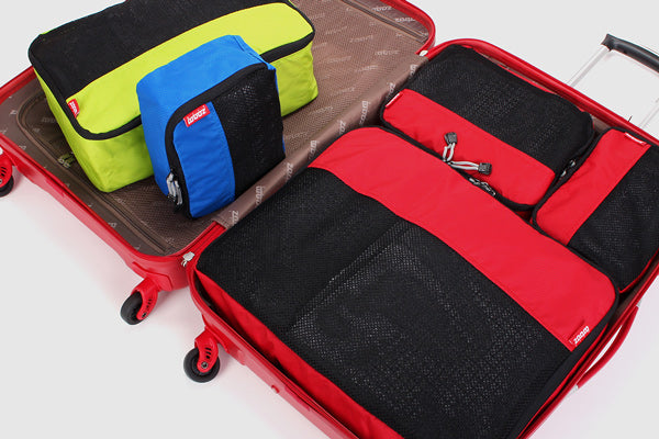 Packing Cubes are suitable for all lugagge types - great for carry on and checked baggage