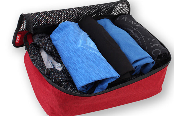 Packing Cubes are great for keeping clothes rolled