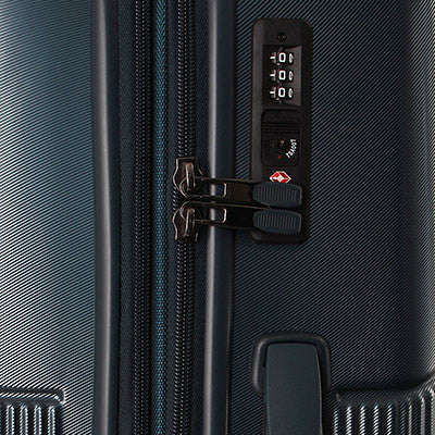Zoomlite hard sided suitcase set with TSA Inline Combination Locks