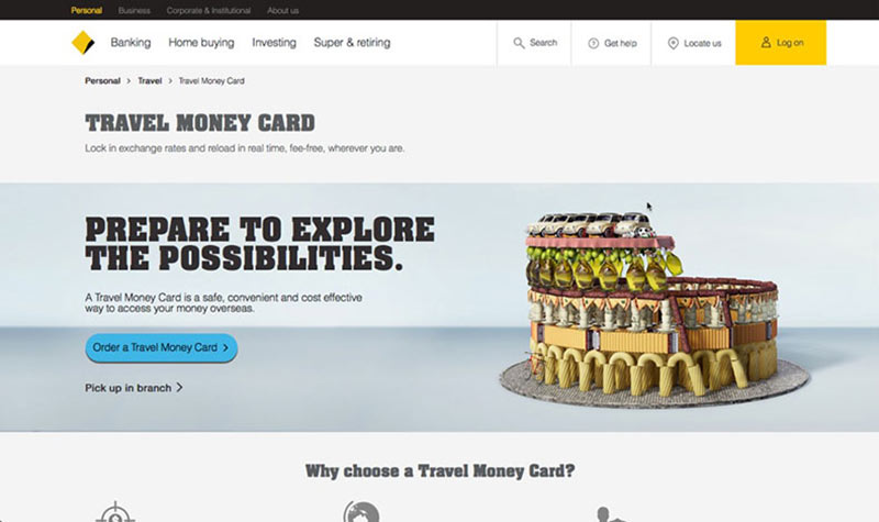 Smart money card for travel safety