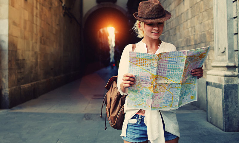 Travelling alone - carrying a map