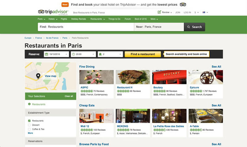 TripAdvisor travel safety tips screenshot