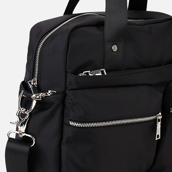 Taylor RFID Convertible Satchel with pickpocket safe sections