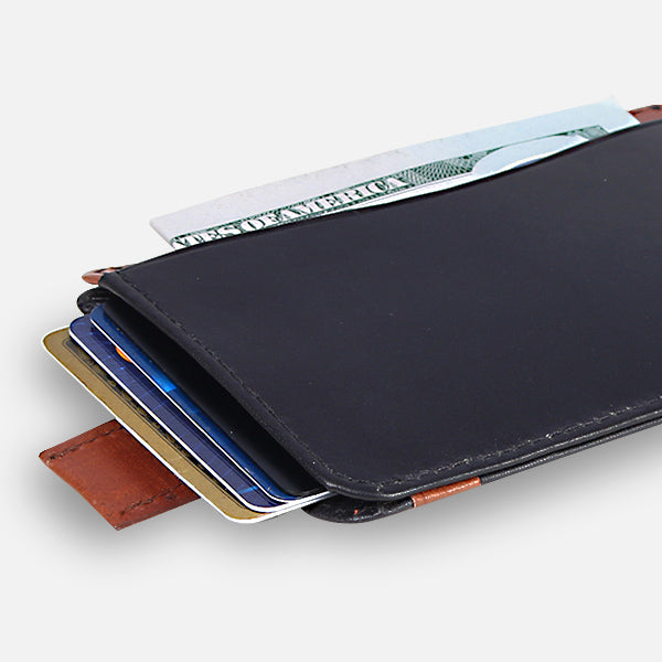 Zoomlite leather thin wallets - RFID blocking technology to keep your credit card data secure