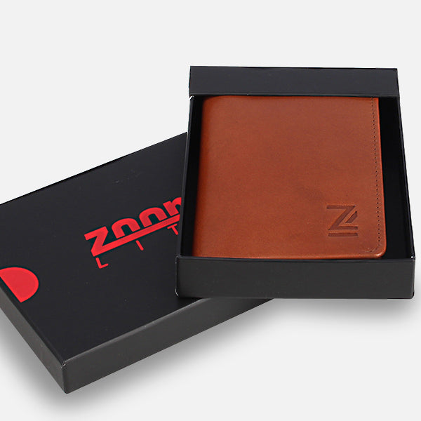 Great gift idea - Zoomlite premium leather wallet comes in a gift box