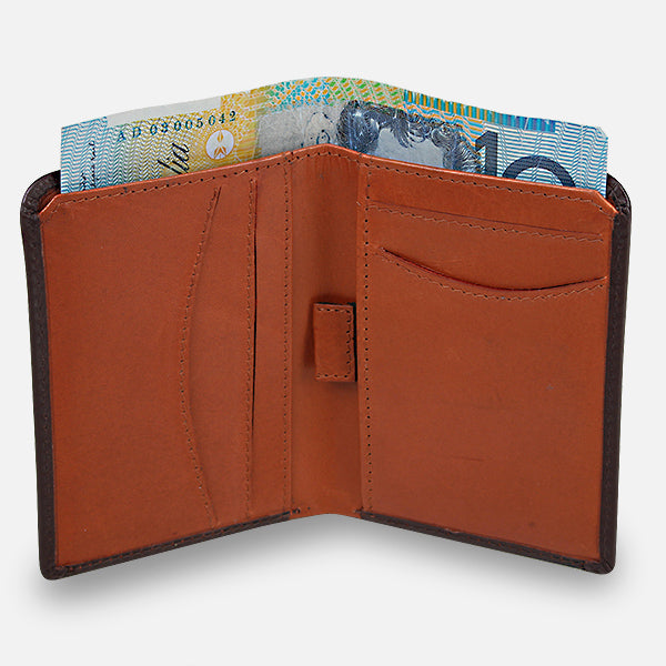 Zoomlite slim wallet in premium leather