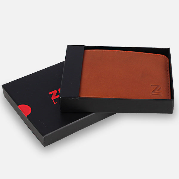 Gift boxed for easy giving - Zoomlite leather wallets - give him the perfect gift