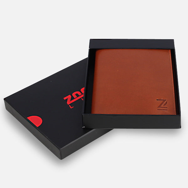 Perfect present for travellers - Zoomlite boxed leather passport wallet