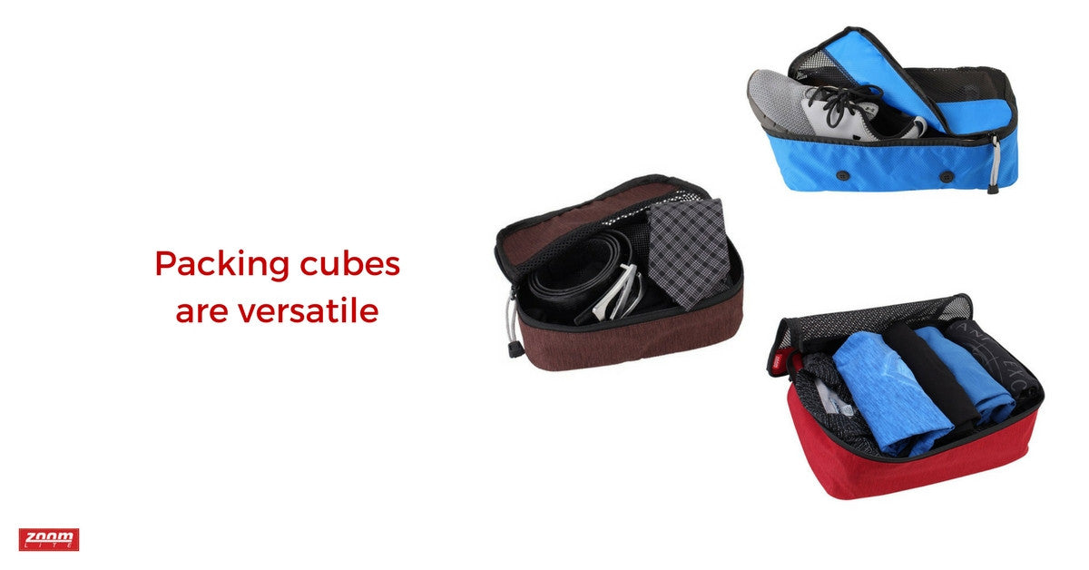 Benefits of packing cubes - versatility