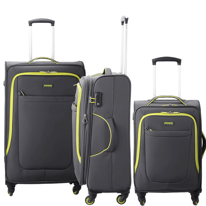 Neon 3 Piece Luggage Set