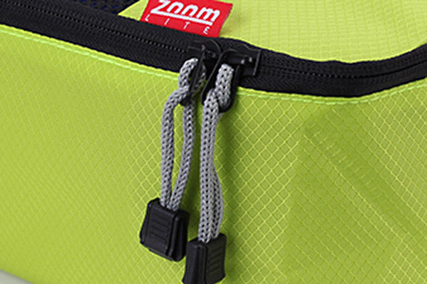 2 way zippers on packing cubes allow for compression