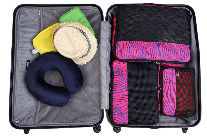 Packing Cubes in open suitcase