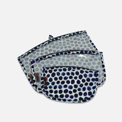 Sustainable Designer Printed - 3 Piece Clear Pouch Set