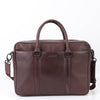 George Soft Leather Brief Bag
