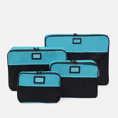 4 aqua Zomlite packing cubes