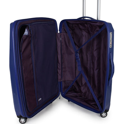 Zoomlite hard sided luggage with functional interior for sorting and compressing your belongings