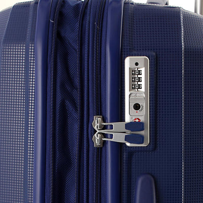 Zoomlite luggage set with fixed TSA combination locks
