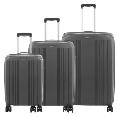 Zoomlite's best lightweight luggage - Jetsetter 3 piece set in Grey