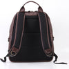 Zoomlite Toby Soft leather Laptop backpack has a top grab handle and comfortable backpack straps