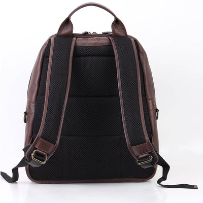 Toby Soft Leather Laptop Backpack