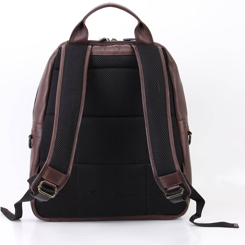 "Zoomlite Toby soft leather Laptop backpack - fits a 15"" laptop"