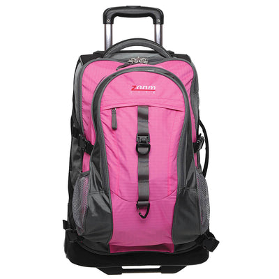 Zoomlite Backpack Wheeled Luggage - Pink - includes detachable daypack