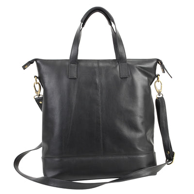 Zoomlite York soft leather Crossbody tote bag with detachable long strap