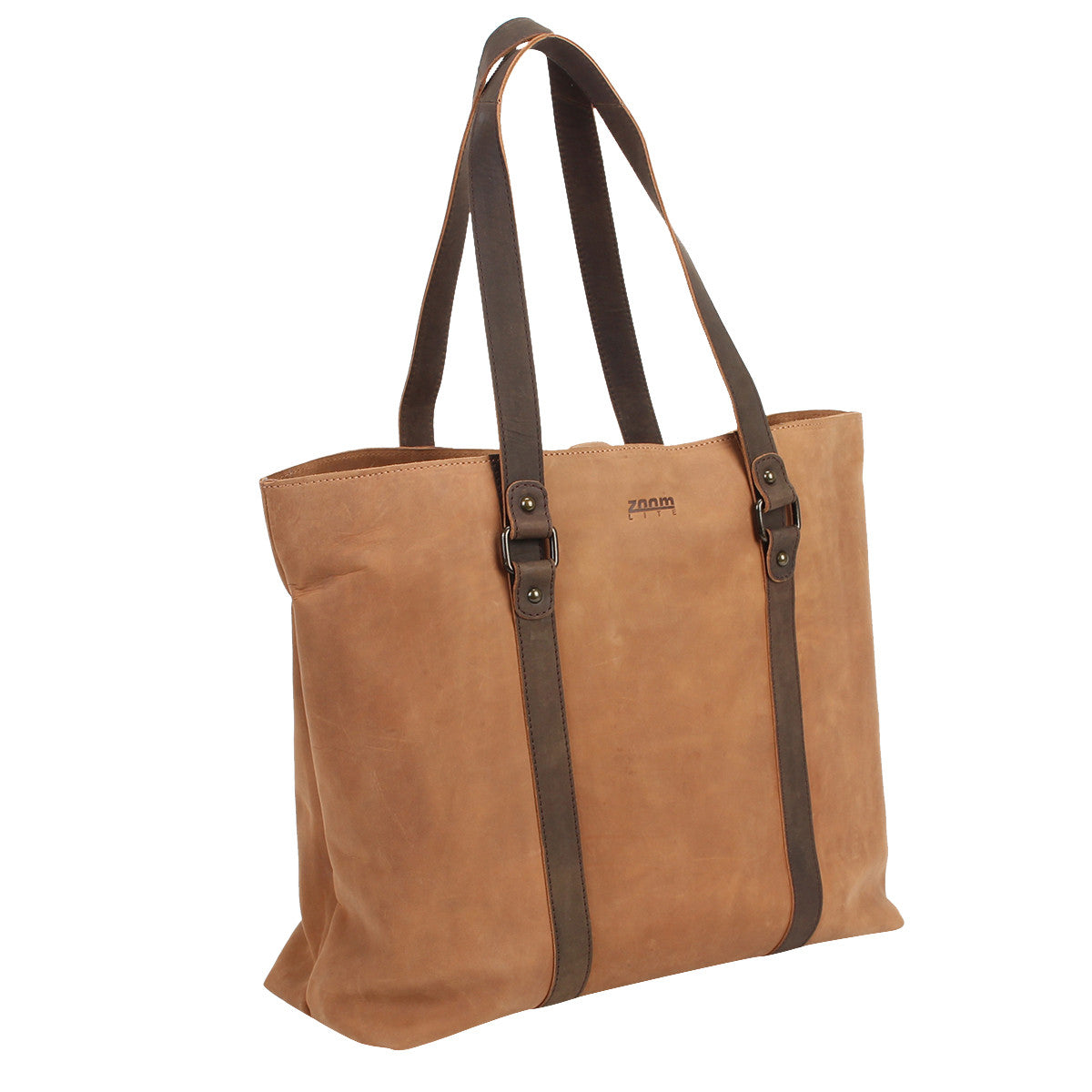 Hudson Leather Carryall Tote Zoomlite