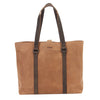 Zoomlite Hudson Carryall leather tote bag in vintage look, suede feel leather