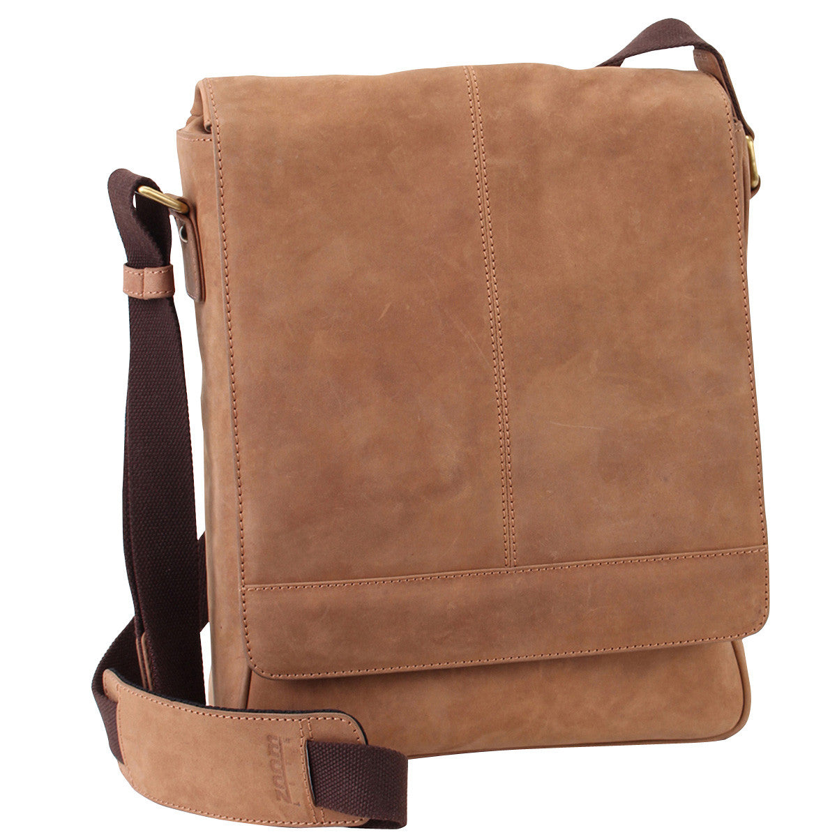 Manhattan Leather Laptop Messenger