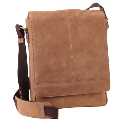 Manhattan Messenger bag in vintage look suede touch leather