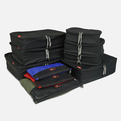 Using the 10 Pc packing bundle can make your packing and unpacking a breeze. These packing cubes are lightweight and helps your organise your luggage so much easily.