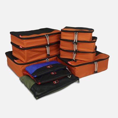 Use the best selling packing cube bundle to organise your luggage and find everything in a flash