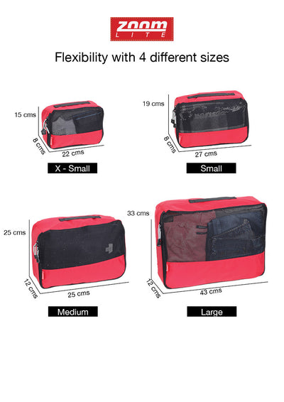 Packing Cubes - 4 flexible sizes in a set