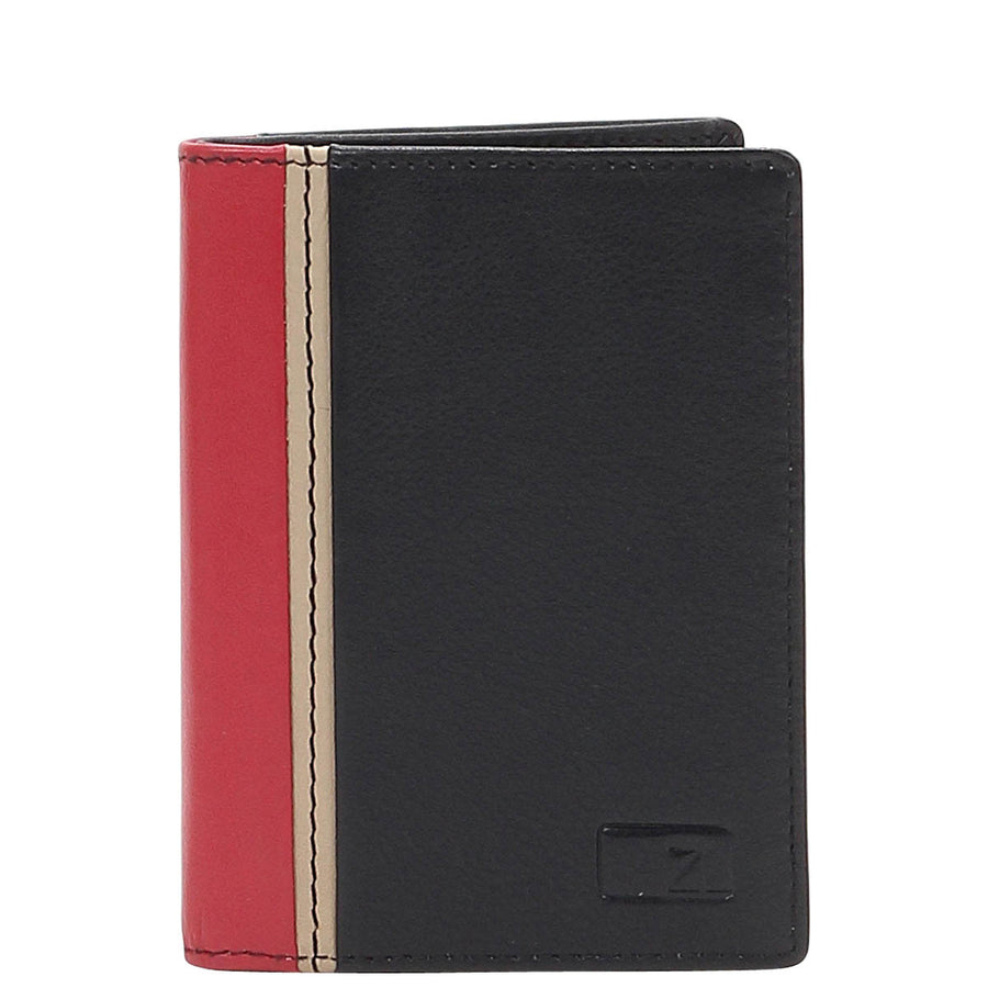 Zoomlite leather wallet card holder with RFID blocking technology
