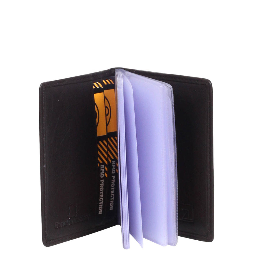 Boston Leather Card Holder With Inserts