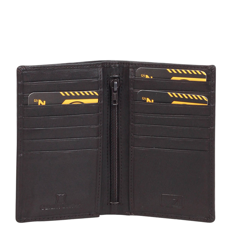 Boston Leather Vertical Card Sleeve