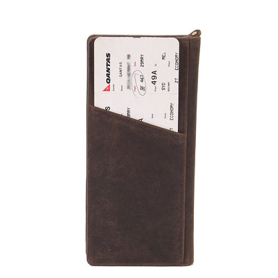 Texas Ziparound RFID Leather Secure Travel Wallet - Brown , Zoomlite - 2